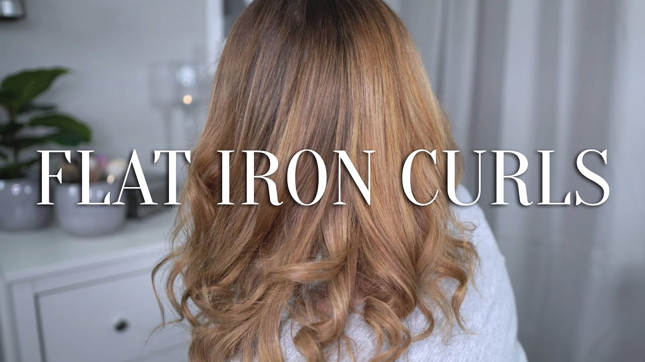 CURL HAIR WITH STRAIGHTENER FOR BEGINNERS | FAST & EASY ...