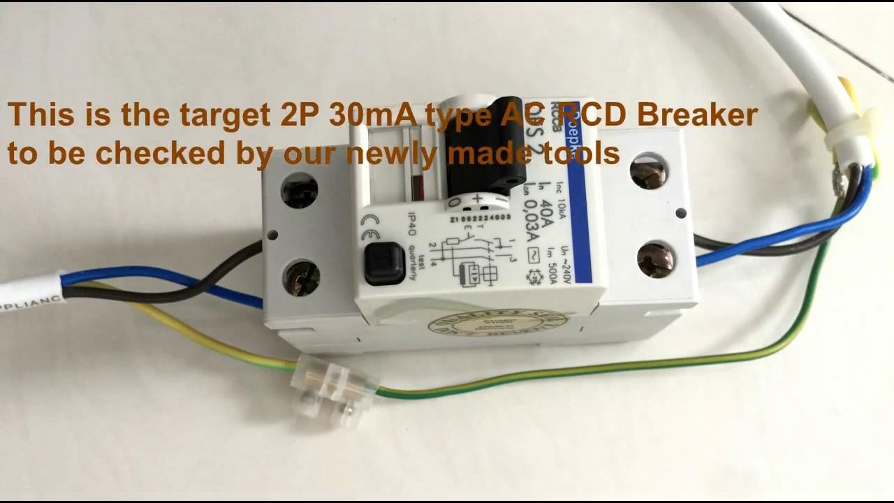 Diy Tools For Checking Home Rcd Breakers Or Rccb Circuit Breaker Box Individual Tester