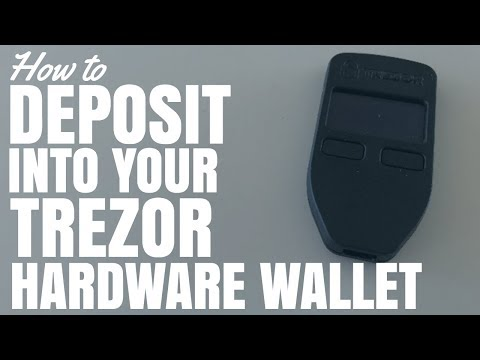 How To Deposit Into Trezor Hardware Wallet (Bitcoin And Other Crypto Currencies)