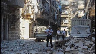 ضحايا بقصف روسي على حي بستان القصر والسكري