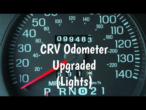 98 CRV Dash Light Upgrade