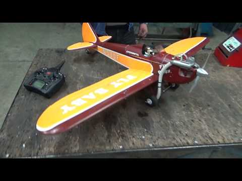 Taft Hobby FlyBaby 1.4m EPO with OS LA 25 glow engine Run test