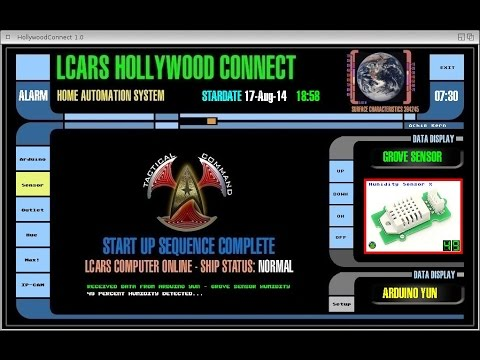 LCARS Hollywood Connect Amiga Smarthome Homeautomation