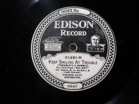 KEEP SMILING AT TROUBLE by Golden Gate Orchestra DD 51491-R