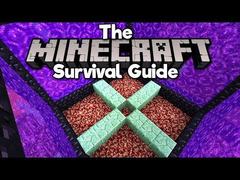 redesigning-the-nether-hub!-▫-the-minecraft-survival-guide-(tutorial-lets-play)-[part-107]