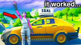 I opened a TAXI SERVICE in Fortnite! (it worked!)