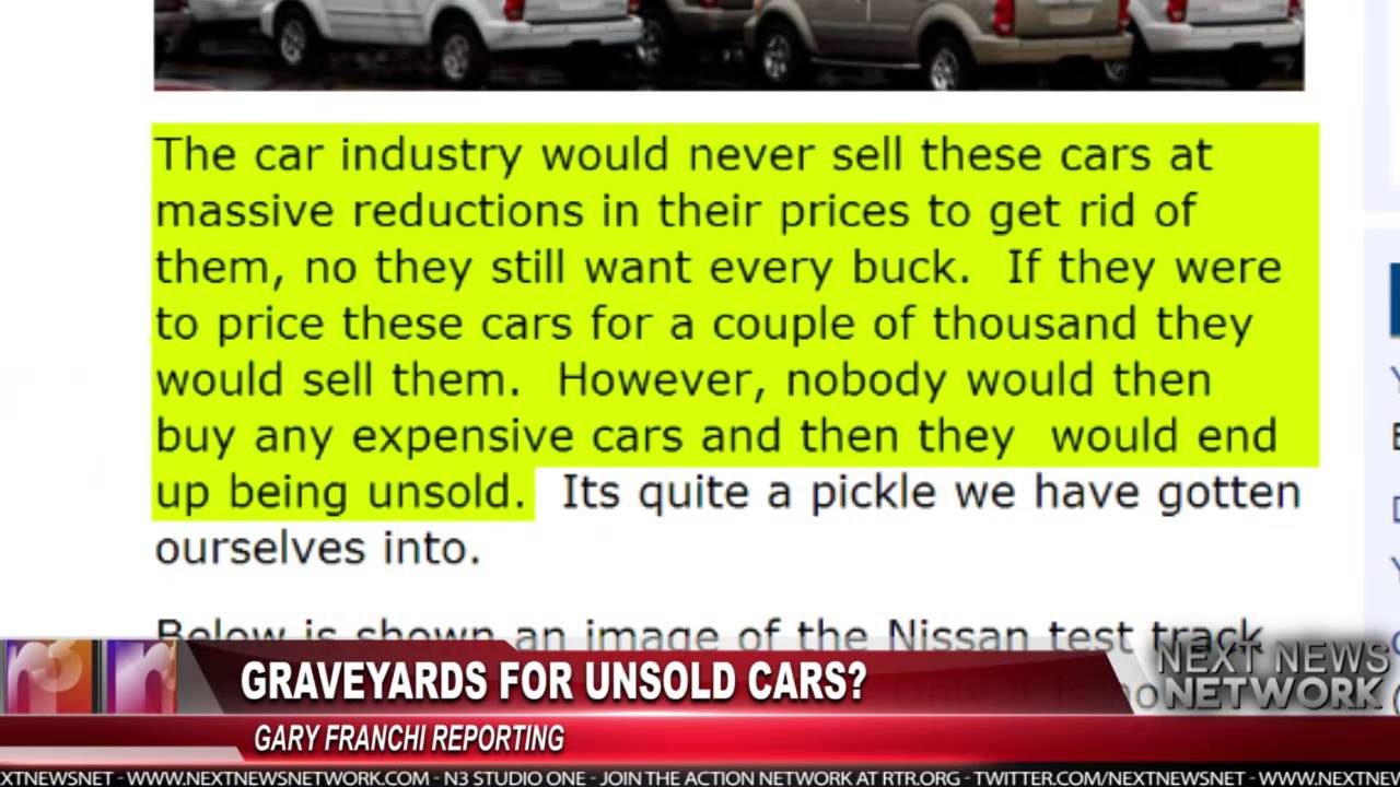 Graveyards for Unsold Cars - YouTube