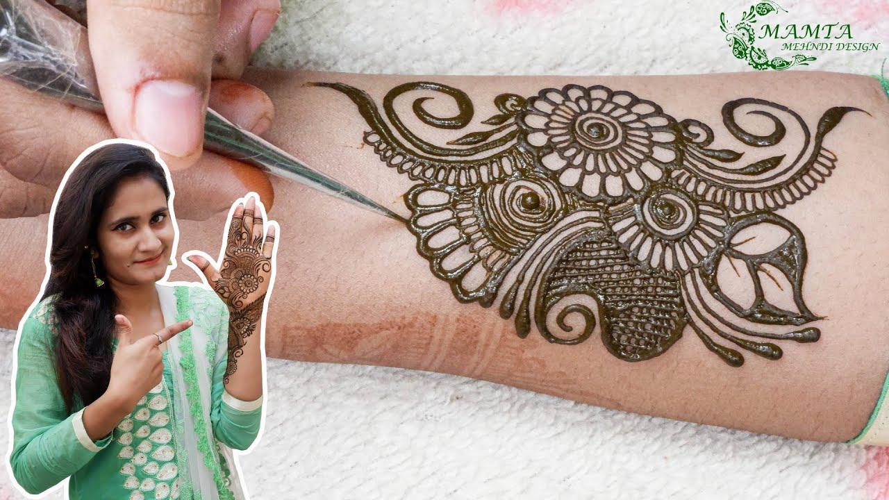 Beautiful Flower Arabic Mehndi Design || Front Hand Mehndi || Floral Mehndi || Mamta Mehndi Design