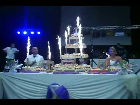 entre du gateau de mariage de sabine david le 14 septembre 2013 2m30 de hauteur youtube - Fontaine Gateau Mariage