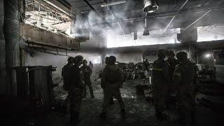 Донецк. Ополчение 'Спарта' ведёт бой за аэропорт Украина!