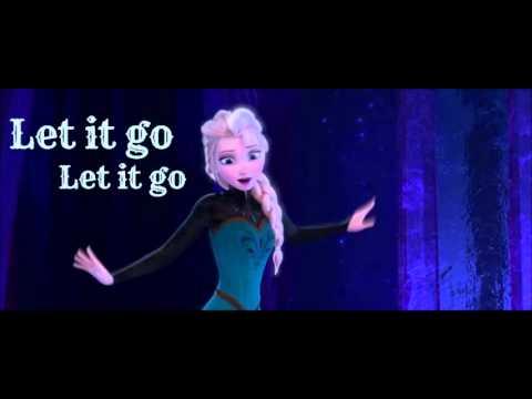 Frozen Let It Go Idina Menzel Lyrics Youtube