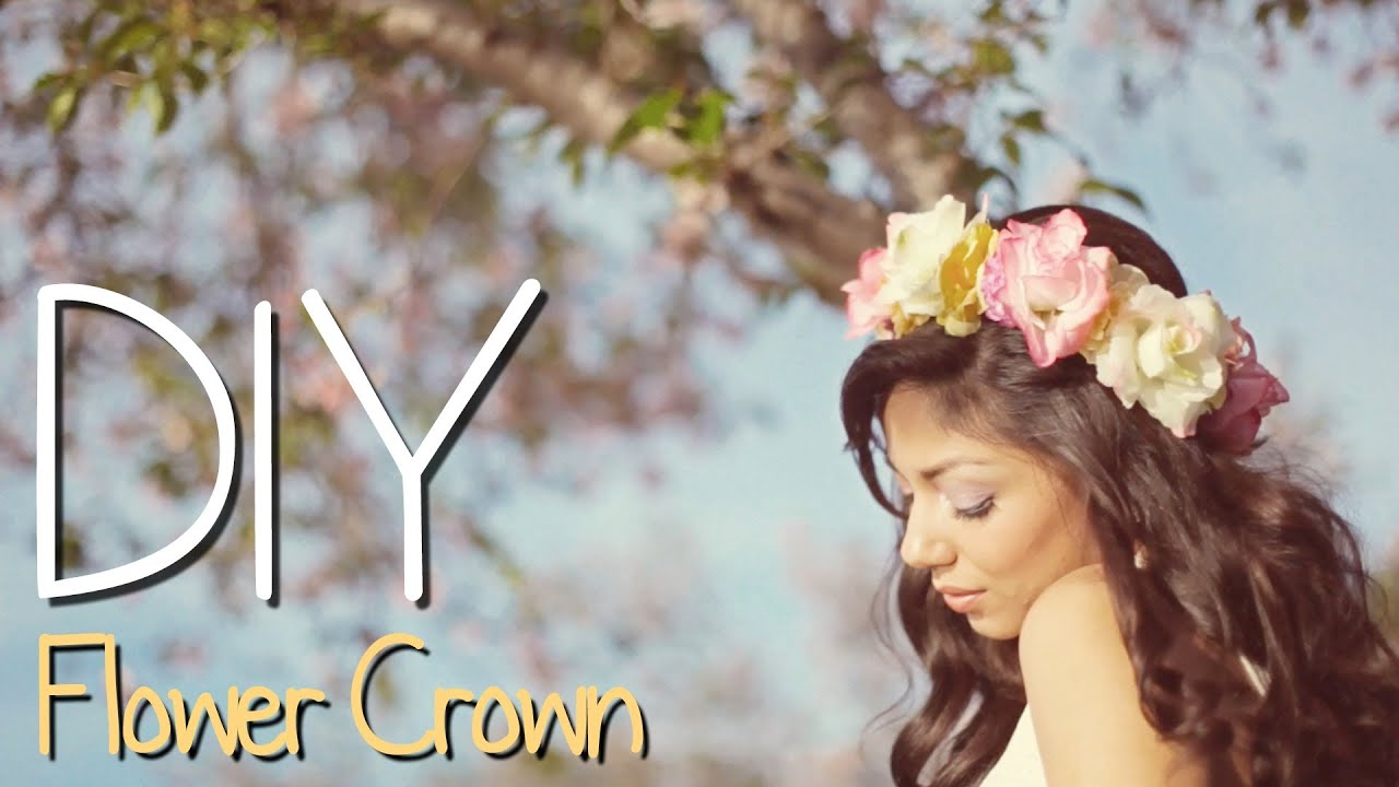 Diy flower crown charisma star youtube izmirmasajfo Choice Image