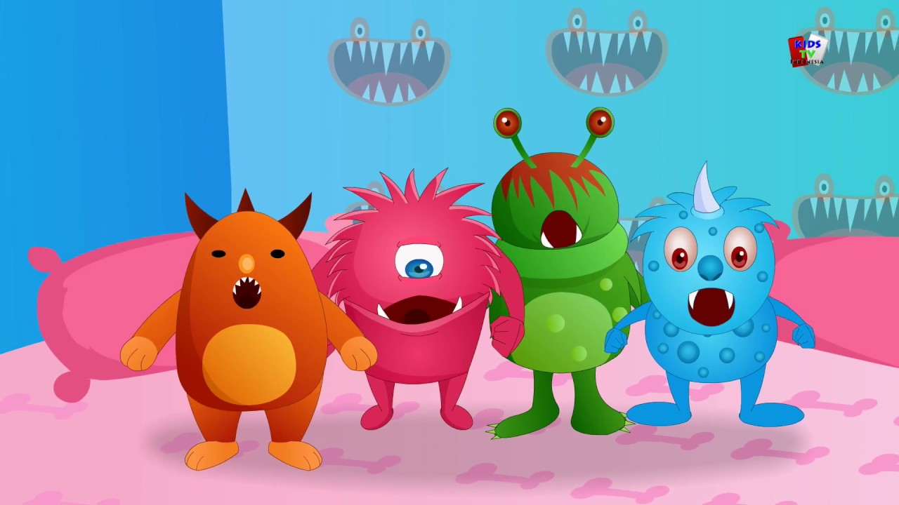 Lima monster kecil sajak anak anak untuk anak anak lagu anak Scary Song Five Little Monsters