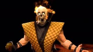 Mortal Kombat 9 Скорпион Фаталити 1, 2, 3 +Stage&Бабалити HD