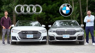 James and thomas compare the new 2020 bmw 750li xdrive with audi a8l. both cars are all-wheel drive luxury sedans that provide feelings of comfort sa...