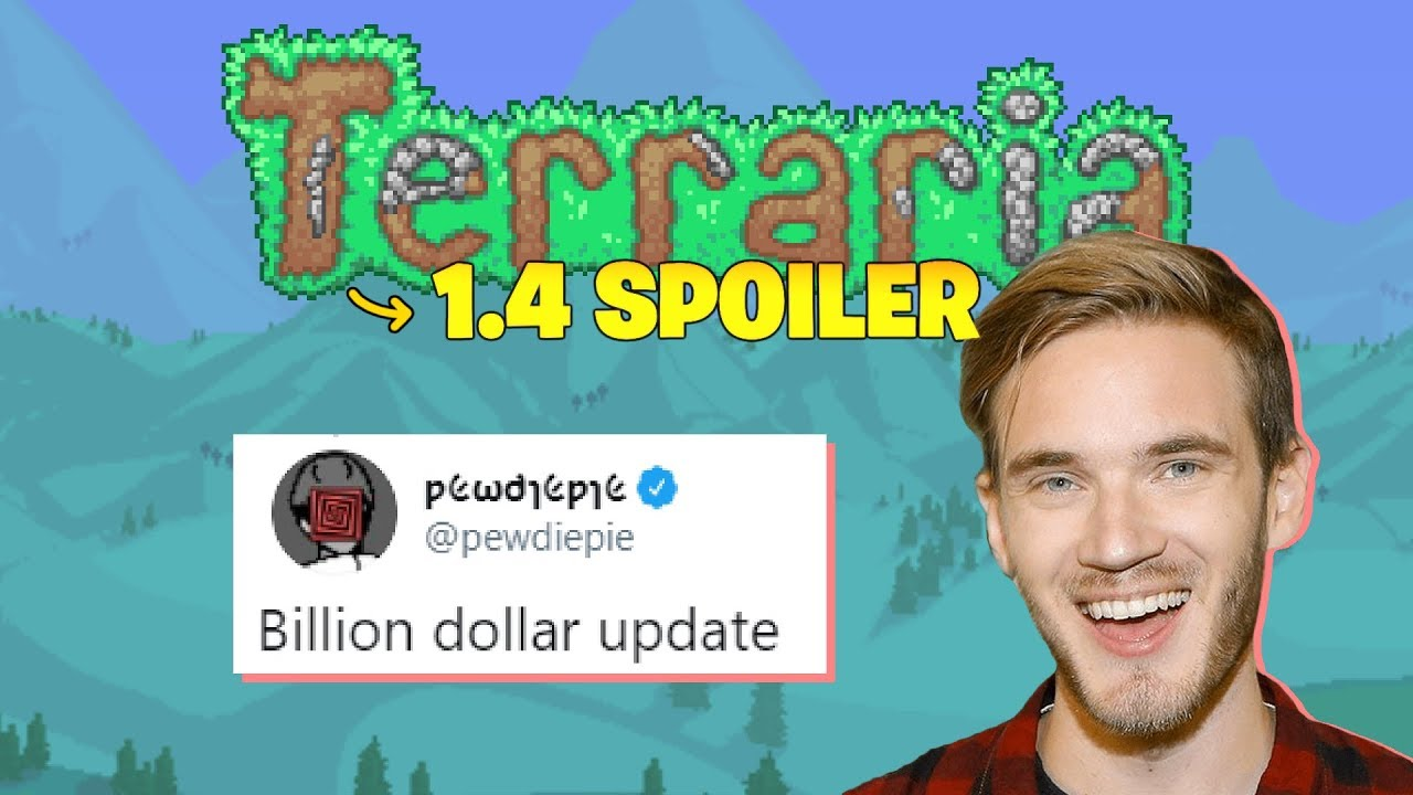 Terraria 1 4 Lets You Pet The Dog Pewdiepie Responds On Twitter Youtube