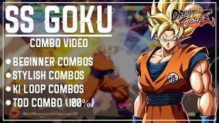 #DBFZ : SS #Goku #Combo Video (Stylish, Ki Blast Loops, #TOD 100% & More)