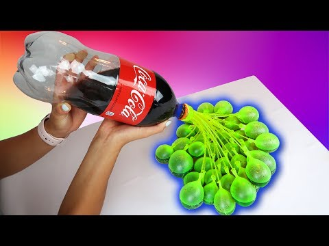 COCA COLA VS WATER BALLOONS!!