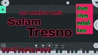 Cara membuat musik remix ( Melodi untuk lagu Salam Tresno ) - FL Studio Mobile