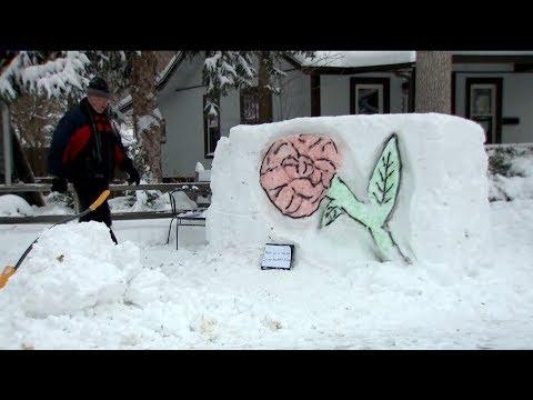 BEARDO - Denver Man Turns Snow Into Neighborhood Art