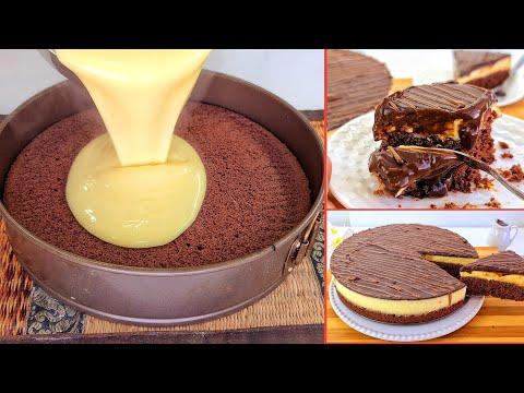 كيكة شوكولاتة ب 3 طبقات اقتصادية سهلة