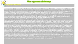 How to : Use a german dictionary