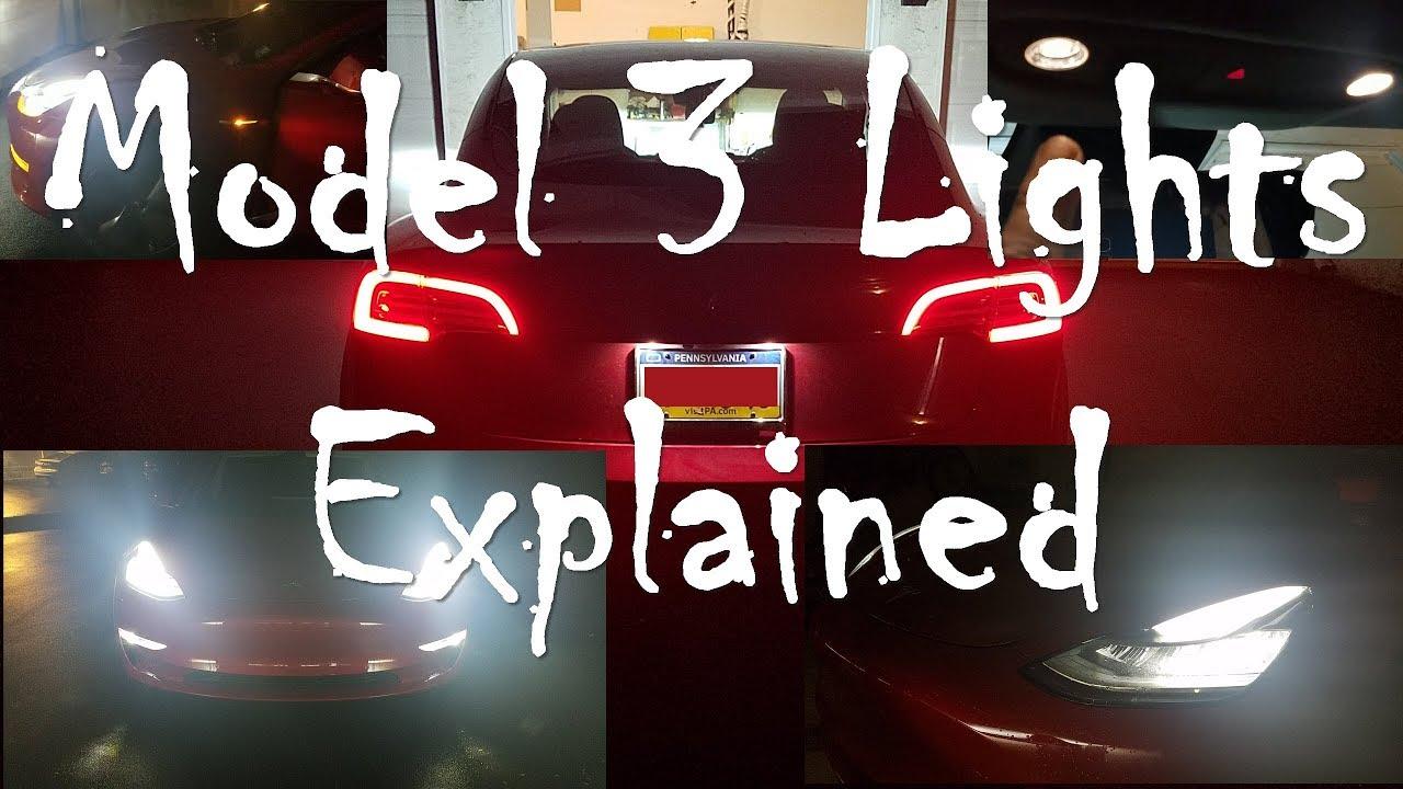 Model 3 Lights Explained - Nick's Model 3 - Day 57