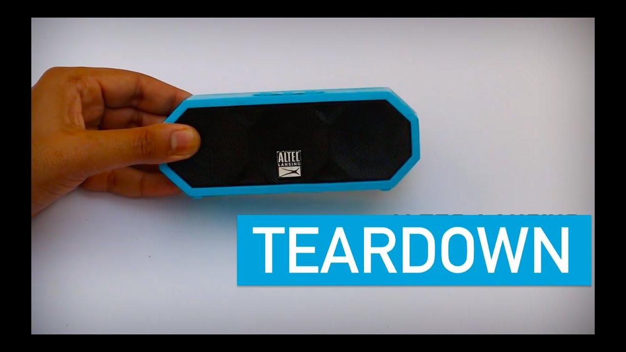 What's inside Altec lansing H20 speaker?  Teardown 