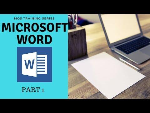 Microsoft Office Specialist Word Core Exam Practice Part 1