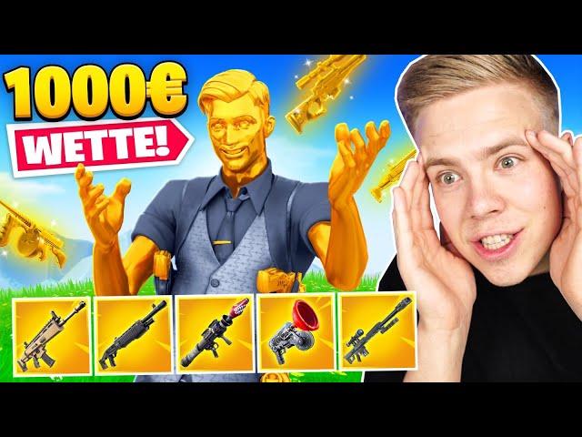 1000€ für GOLDENE WAFFEN (Wette) in Fortnite!