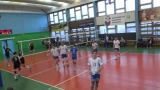 Академия - Газпромнефть (3:0), Чемпионат СПБ по волейболу, 23.04.16