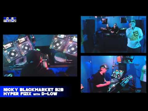 NICKY BLACKMARKET & HYPER FIZIX with D-LOW - Rough Tempo LIVE - May 2014