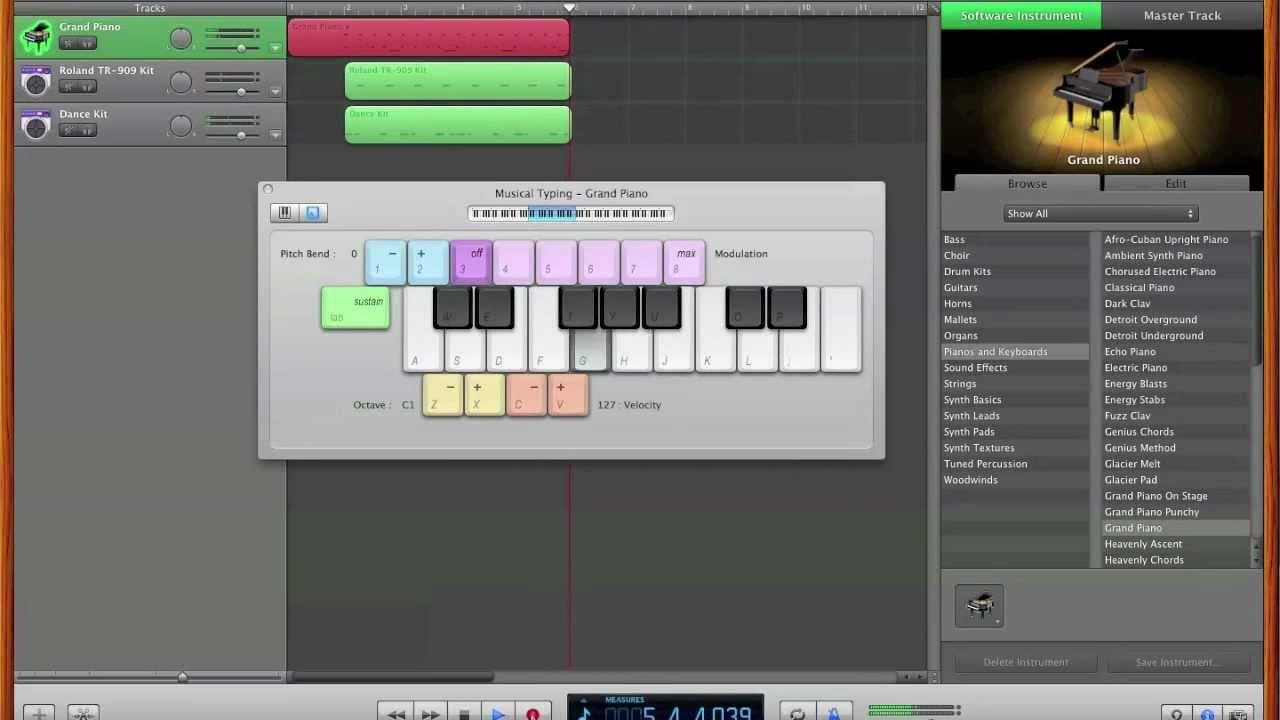 Piano Garage Band : Make a beat without a midi keyboard in garage band youtube