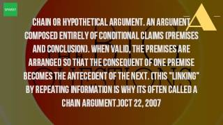What Is A Chain Argument?