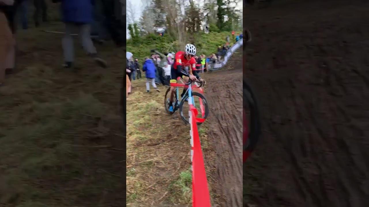 U.S. Elite Men's Cyclocross Nationals Key Moment - Hecht, Werner