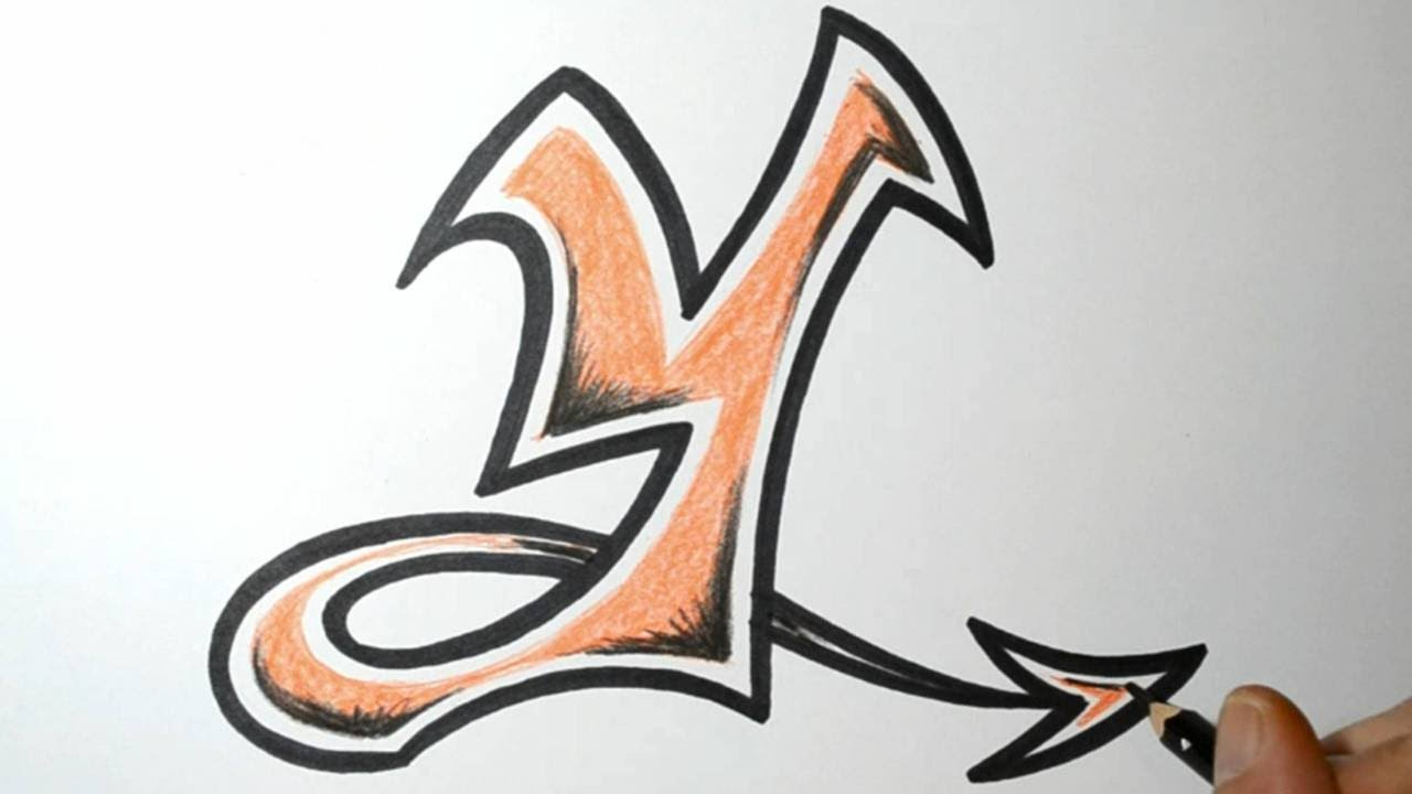 How to Draw Graffiti Letters - Y - YouTube