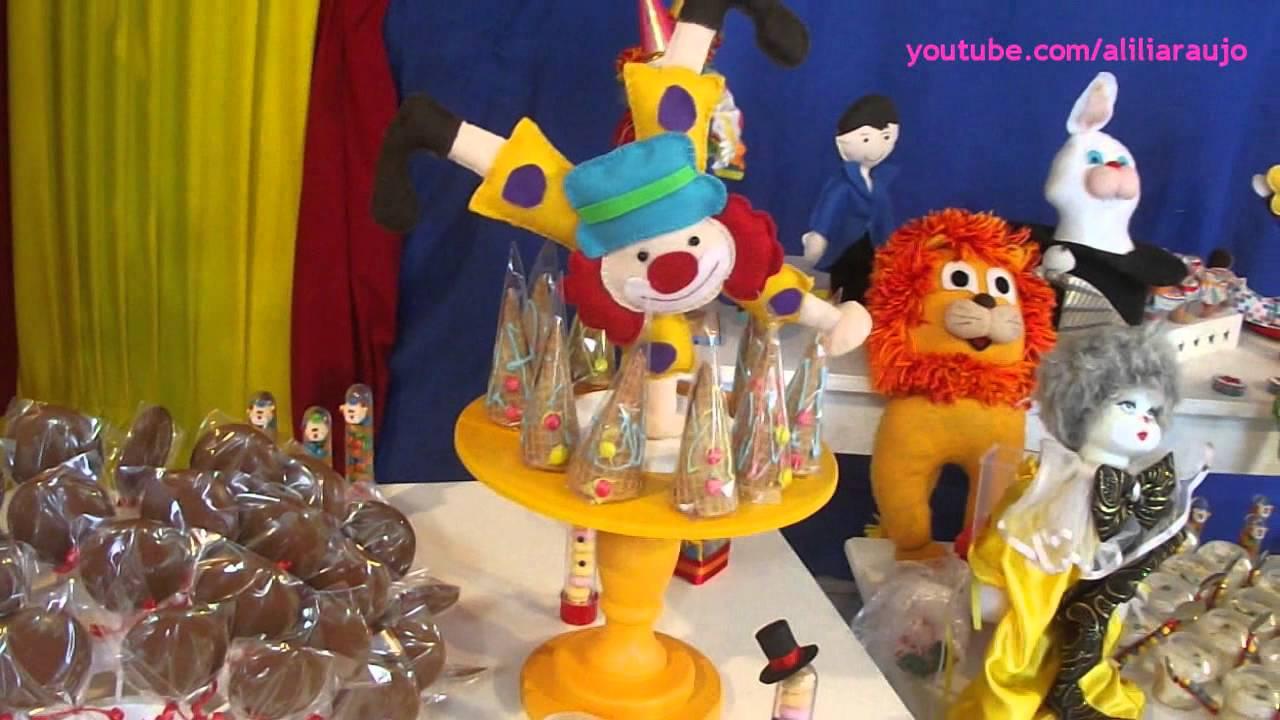 Ideias para decoraç u00e3o de festa Circo YouTube