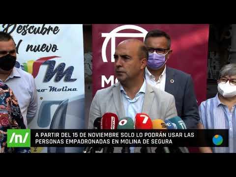 15/10/2021 Los vecinos de Molina de Segura ya no pagan por utilizar el autobús en el municipio