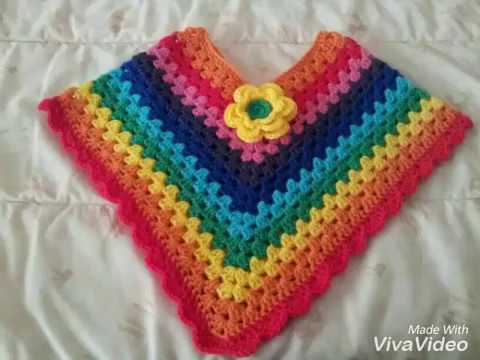 Crochet Baby Poncho Youtube