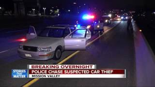 Police chase a suspected car thief