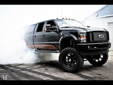 Lifted 2015 F150 >> Lifted Ford F-250 Harley Davidson Edition Burnout!! - YouTube
