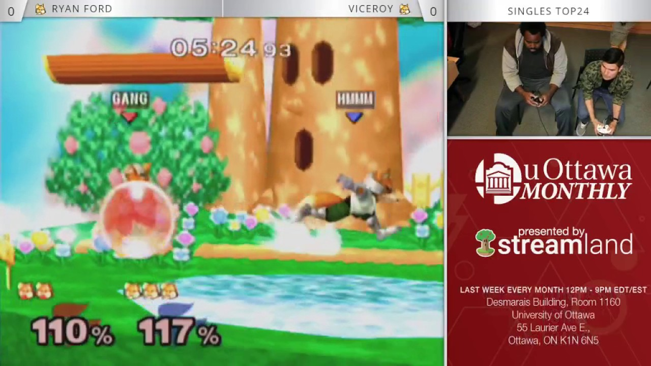 UOttawa Monthly May 2017 Melee Singles Top24 Ryan Ford Vs