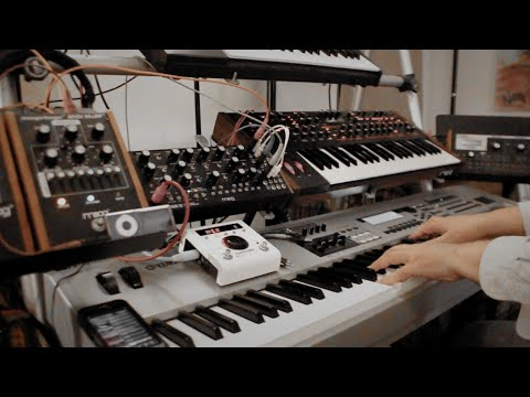 Download Moog Mother Piano + DSI Pro 2 + Yamaha MO8 + Eventide H9 = Initial Explorations - ExperimentalSynth