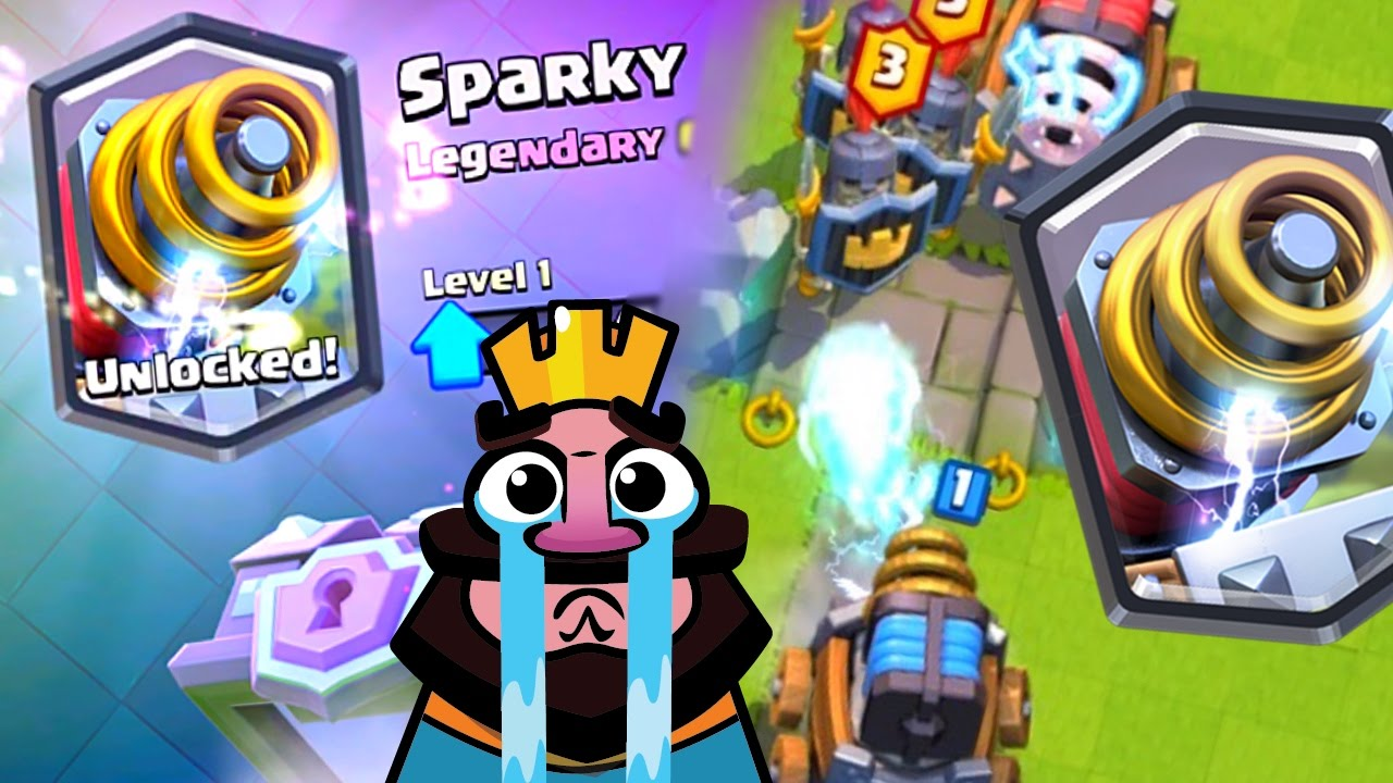 Clash Royale Sparky Is Too Dirty Youtube