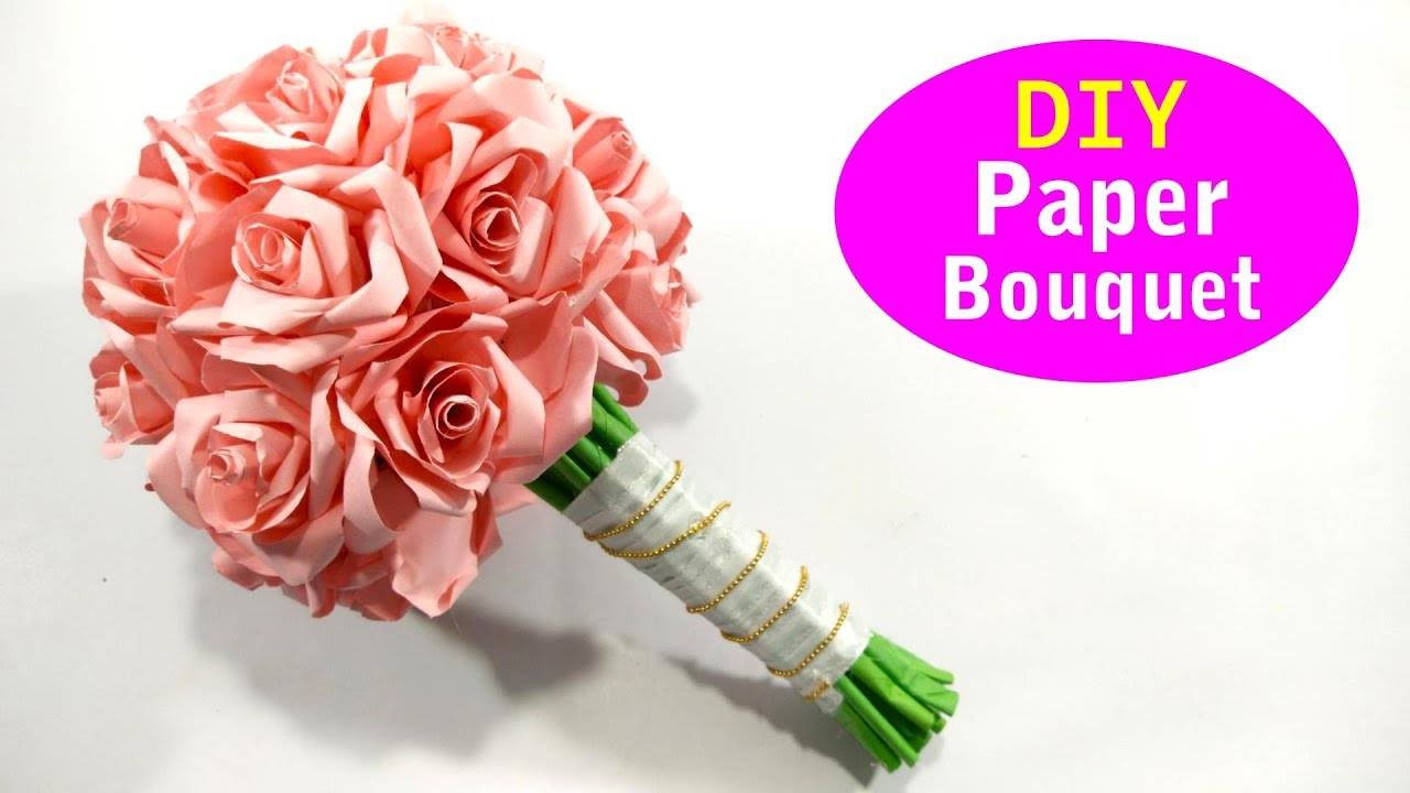 Paper Flower Bouquet DIY, Origami Flower Tutorial - YouTube | 720x1280