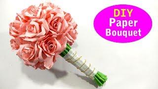 DIY Latest Design Paper Flower Bouquet - Wedding Bouquet - Paper Bridal Bouquet Ideas 2019