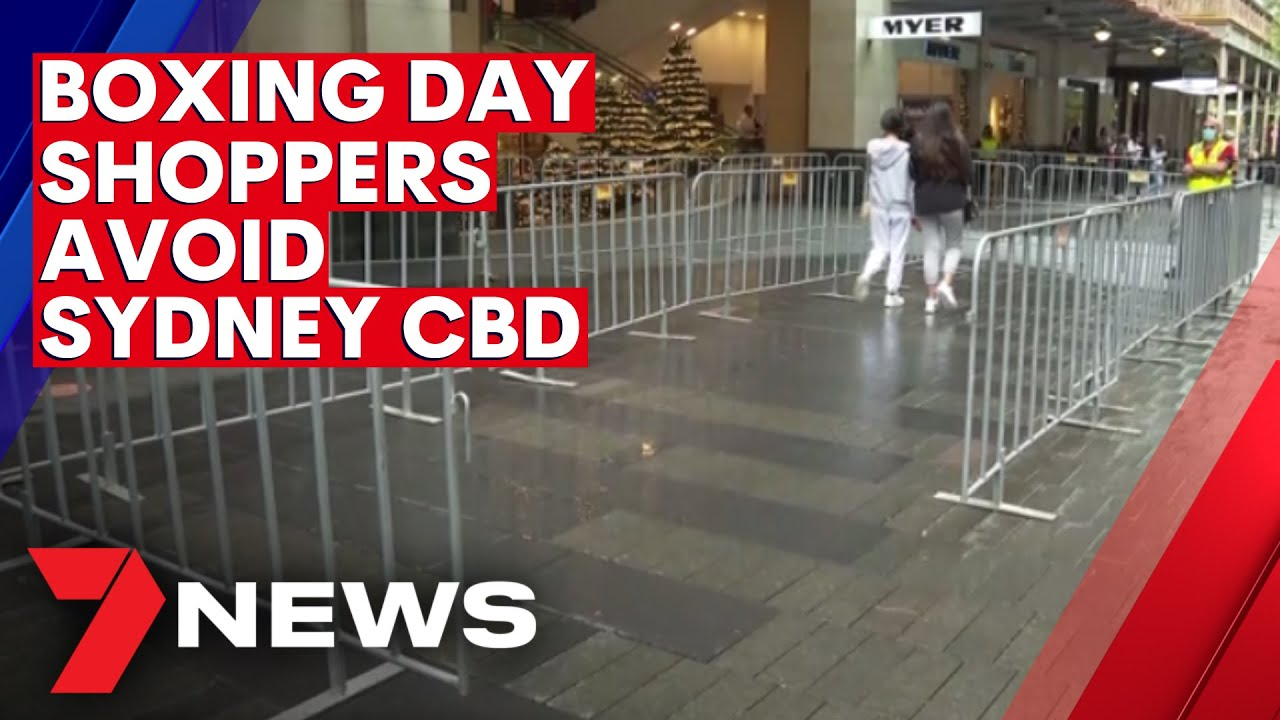 Boxing Day shoppers steer clear of the Sydney CBD amid coronavirus fears   7NEWS