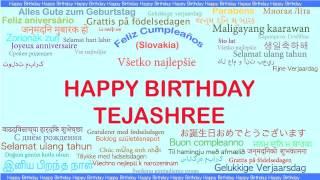 Tejashree   Languages Idiomas - Happy Birthday