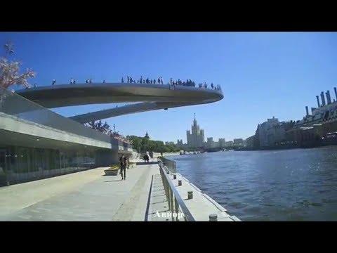 Смотреть Парк Зарядье парящий мост. Танцуют все! онлайн