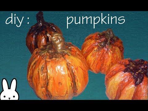 diy: styrofoam pumpkins using drywall joint compound
